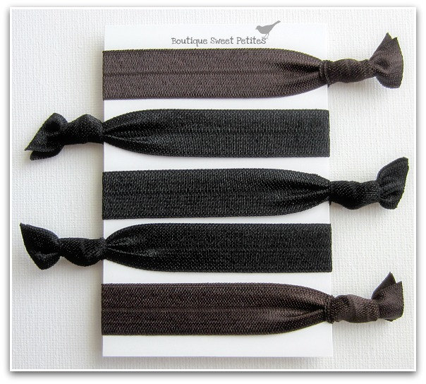 Hair Ties Anthropologie Inspired Double as Bracelets Chocolate Brown  Licorice Black Set of 5 6b9a37f6737